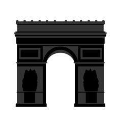 Arc de triomphe paris vector