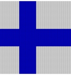 Knitted flag of finland vector
