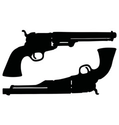 Classic Wild West revolvers vector image