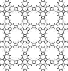 Delicate seamless monochrome ethnic pattern vector
