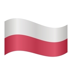 Flag of poland waving vector