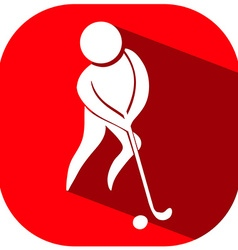 Golf icon on red background vector