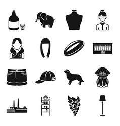 alcohol animal atelier and other web icon in vector image vector image