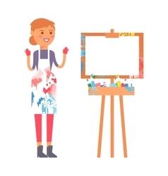 Artist creative people character vector image
