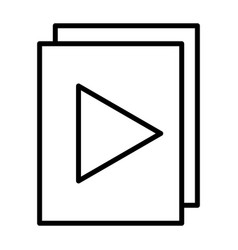 Audio or video files with plat button line icon vector