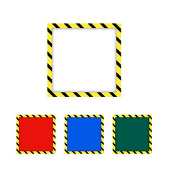 Border yellow and black color construction vector