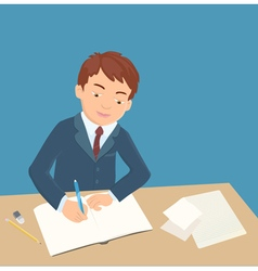 boy writing vector image vector image