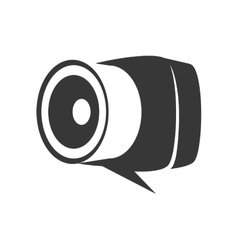 Bubble camera technology gadget icon vector