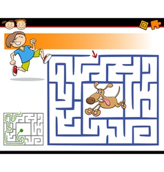 cartoon maze or labyrinth game vector image