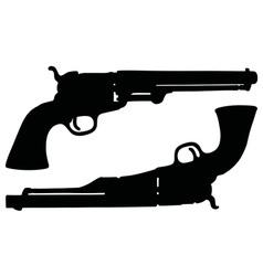 Classic wild west revolvers vector
