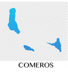 Comeros map in africa continent design vector