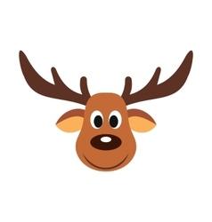 Deer christmas flat icon vector image vector image