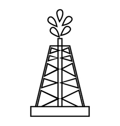 Drilling of oil well icon outline style vector
