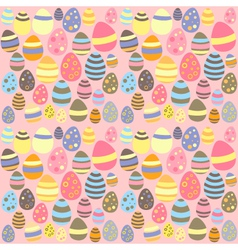Eastern pink seamless texture with eggs vector image vector image