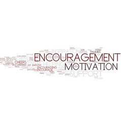 encouragement word cloud concept vector image vector image