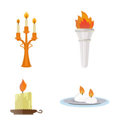 fire torch victory champion flame icon vector image vector image