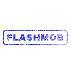 Flashmob rubber stamp vector