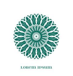 geometric green mandala vector image