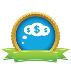Gold dollar cloud logo vector