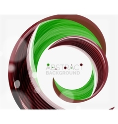green swirl line abstract background vector image vector image