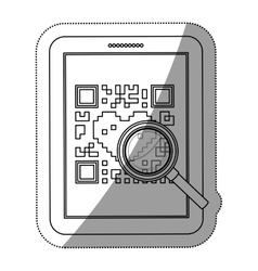 Isolated qr code and tablet design vector