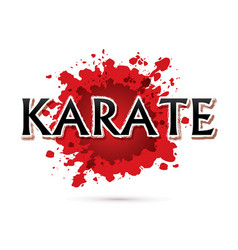 karate font design vector image vector image