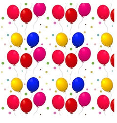 pattern with balloons on a white background vector image