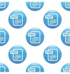 Pdf file sign pattern vector