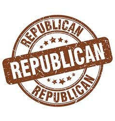 republican brown grunge round vintage rubber stamp vector image vector image