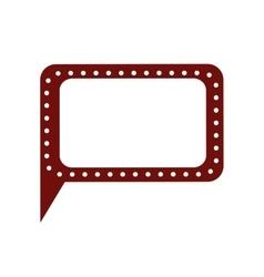 retro speech bubble isolated icon design vector image
