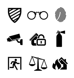 Safety and security icons vector image vector image