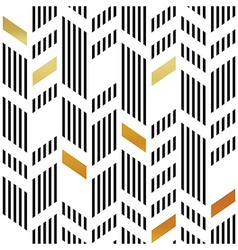 Seamless gold and black chevron pattern art deco vector
