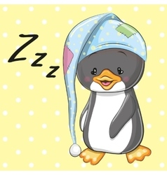 Sleeping penguin vector