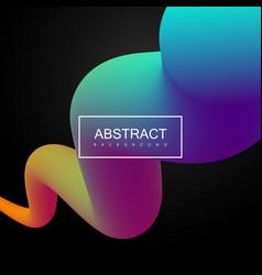vibrant gradient shape vector image