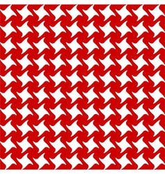 Red white seamless fabric texture vector