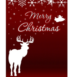 Christmas background with reindeer vector
