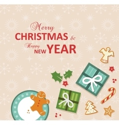 Top view of christmas celebration vector