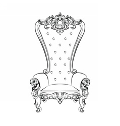 Baroque royal armchair vector