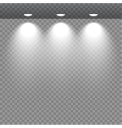 Spot lights showcas vector