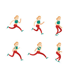 Active training woman set vector