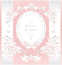 Wedding invitation or congratulation in pink vector