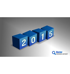 2015 Cubes vector image