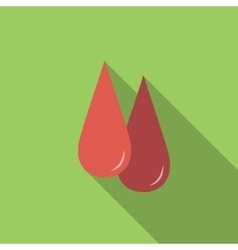 Blood flat icon vector
