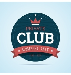 Private club badge vector