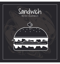 Food concept burger design vector