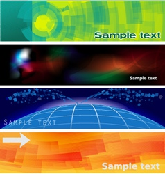 abstract banners and headers vector image
