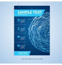 abstract sphere brochure design templates vector image vector image