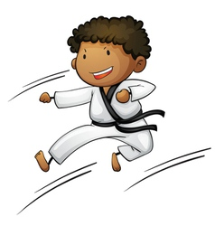 Active kid vector image vector image