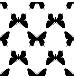 Black butterfly seamless vector