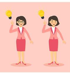 Businesswomen get idea vector